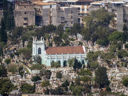 portuguese: The portuguese style graveyard at Macau, China Stock Photo