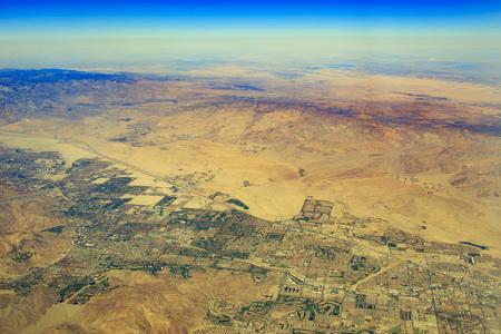 palm desert: Aerial View of Palm Desert near Palm Springs