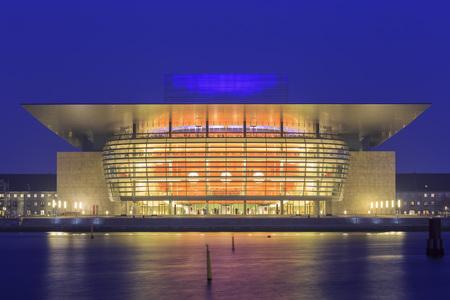 Traveling in the famous Opera House, Copenhagen around Autumn season Editorial