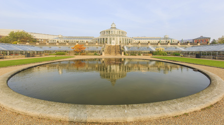 historical reflections: Traveling in the famous Botanical Garden, Copenhagen around Autumn season Editorial
