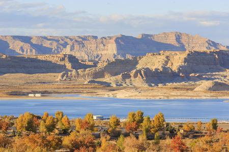 page arizona: The famous Glen Canyon around Lake Powell, Page, Arizona Stock Photo
