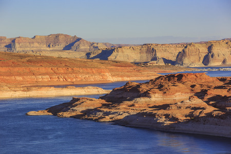 page arizona: The famous Glen Canyon Dam around Lake Powell, Page, Arizona