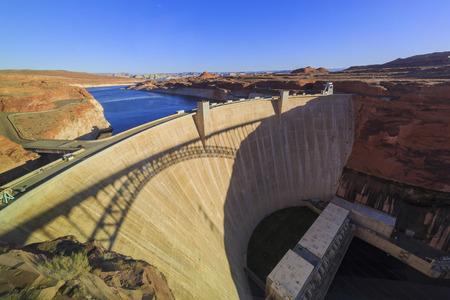 lake powell: The famous Glen Canyon Dam around Lake Powell, Page, Arizona