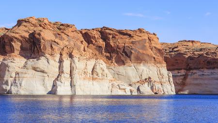 lake powell: The famous Glen Canyon around Lake Powell, Page, Arizona Stock Photo