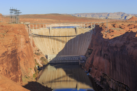 glen: The famous Glen Canyon Dam around Lake Powell, Page, Arizona