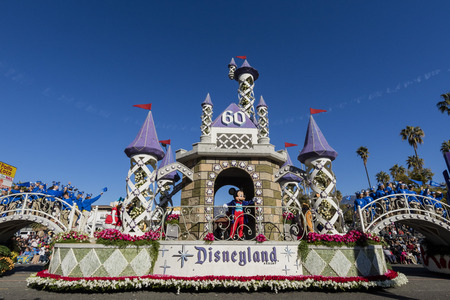 Pasadena, California, USA - January 1, 2016: Superb Tournament of the famous Roses Parade - Americas New Year Celebration, held in Pasadena, California Editorial