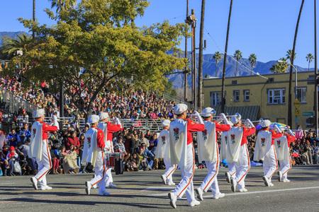 tournament of roses: Pasadena, California, USA - January 1, 2016: Superb Tournament of the famous Roses Parade - Americas New Year Celebration, held in Pasadena, California Editorial