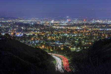 culver city: Los Angeles downtown skyline near Culver City,