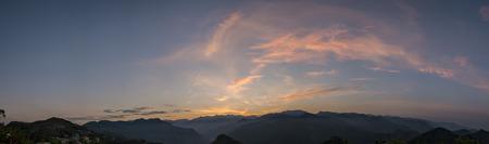 sun rise: Country side sun rise landscape near Alishan, Taiwan