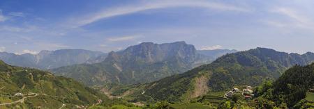 Country side landscape near Alishan, Taiwan