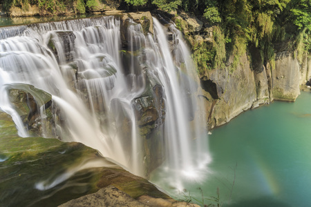 The famous Shifen Waterfall at New Taipei City, Taiwan