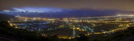 sun rise: Famouse sun rise of Lanyang Plain at Ilan, Taiwan Stock Photo