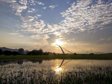 sun rise: Sun rise at Dazhi Bridge, Taipei, Taiwan