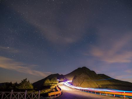 sun rise: Sun rise scenic at the famous nature landscape of Hehuanshan, Taiwan