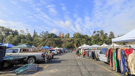 and arcadia: Pasadena, California, USA - January 10, 2016: The famous flea market at Rose bowl, held in Pasadena, California