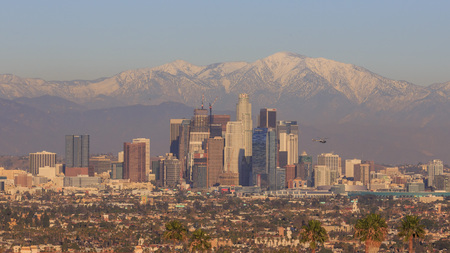 Classical view of Los Angeles Downtown at Kenneth State Park