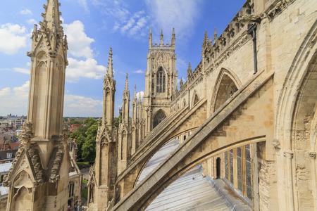 Sightseeing on the famous York Minster, United Kingdom 版權商用圖片