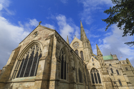 The old historical Chichester Cathedral in United Kingdom Stock Photo