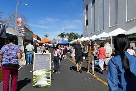 Alhamba, California, USA - February 14, 2016: Alhamba Farmer Market, California