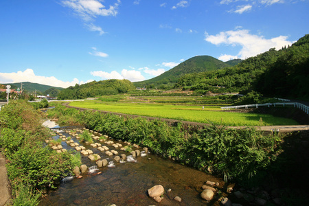 country side: Country side view of Kumamoto Prefecture at Japan Stock Photo