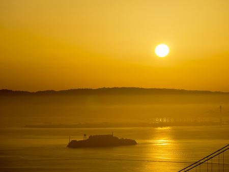 alcatraz: The devil island - Alcatraz at San Francisco, sun rise time