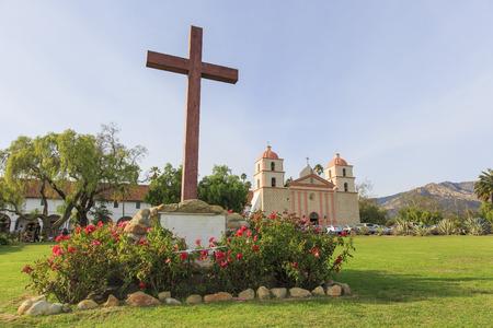 santa barbara: Beautiful Saint Barbara Parish in Santa Barbara, California