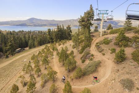 bear lake: Mountain Bike sport at Big bear lake near Los Angeles