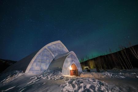 The famous Chena Hot Springs Resort at Fairbanks, Alaska