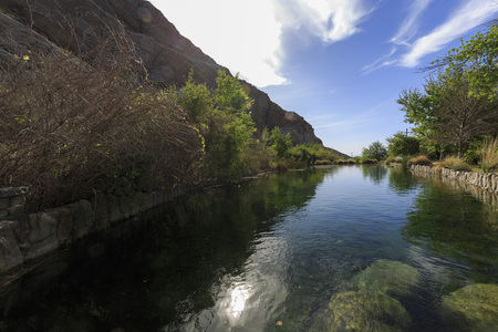 whitewater: Super clear water at Whitewater Preserve, Palm Springs