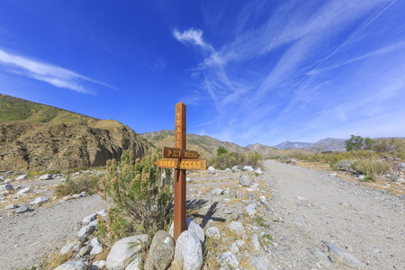 pacific crest trail: Changeling trail - Pacific Crest Trail at Whitewater Preserve