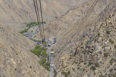 palm springs: Palm Springs Aerial Tram Valley station view from top at Palm Springs, California