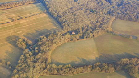 country side: Aerial view of rural  country side landscape near Gatwick, United Kingdom