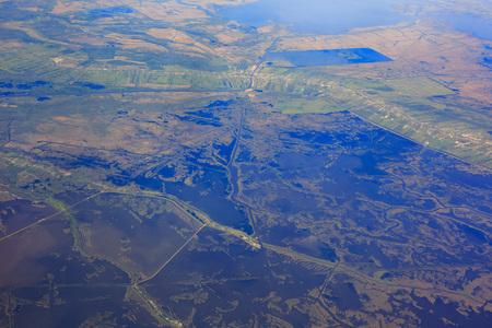 austin: Aerial view near Austin at morning, Texas