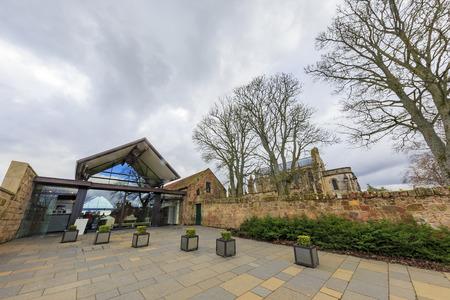 rosslyn: Scotland, MAR 28: The famous Rosslyn Chapel on MAR 28, 2016 at United Kingdom.