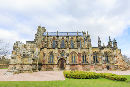 rosslyn: The famous Rosslyn Chapel  at United Kingdom. Editorial