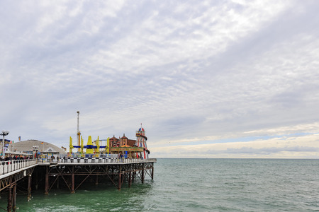 seafronts: Brighton, APR 9: Brighton beach and pier on APR 9, 2016 at Brighton.
