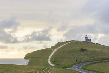 The famous landscape around Seven Sister, Seaford, UK Stock Photo