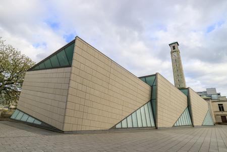 曇りの日は、イギリスの SeaCity 博物館 報道画像