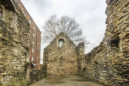 The old castle wall at Southampton, United Kingdom