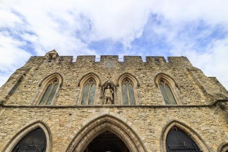 gatehouse: The famous historical building - Bargate at Southampton Stock Photo