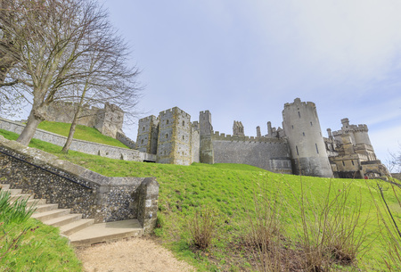 Historical landmark around Arundel Castle, United Kingdom