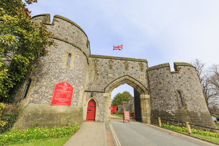 west sussex: Historical landmark around Arundel Castle, United Kingdom