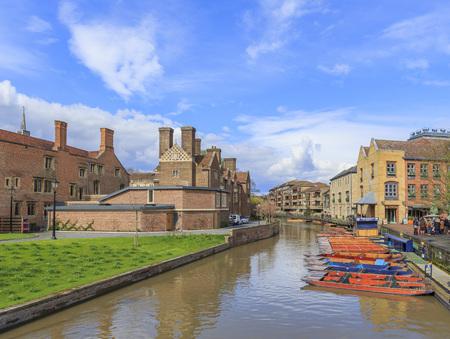 cambridge: Cambridge, APR 16: River, boats on APR 16, 2016 at Cambridge Editorial