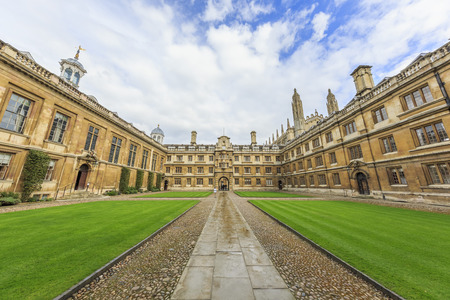 places around the famous Clare College at Cambridge University, United Kingdom Editorial