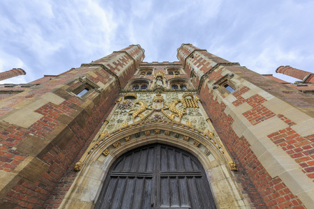 places around the famous St John's College at Cambridge University, United Kingdom 新聞圖片