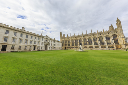 places around the famous King's College at Cambridge University, United Kingdom