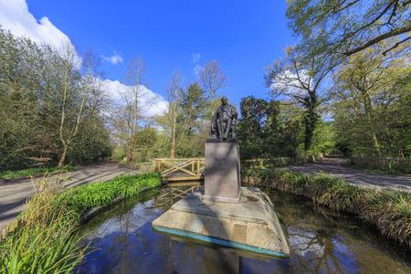 historical reflections: Beautiful landscape around Holland Park, London, United Kingdom