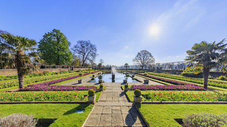 Beautiful landscape around Hyde Park, London, United Kingdom 스톡 콘텐츠