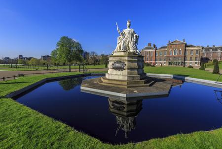 queen victoria: Beautiful Queen Victoria Statue around Hyde Park, London, United Kingdom Editorial