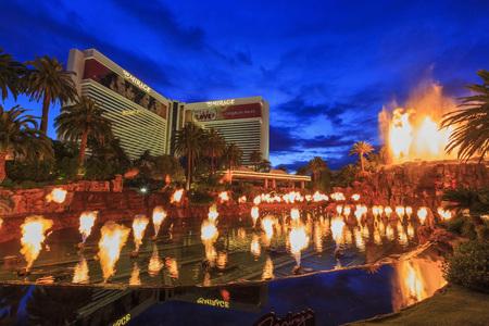 a mirage: AUG 5, Las Vegas: The famous Mirage Casino on AUG 5, 2015 at Las Vegas, Nevada